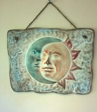 Ceramic Mexican Sun and Moon Wall Plaque (29cms x 23cms)