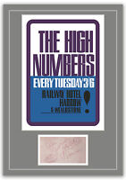 The Who High Numbers Concert Poster and Autographs Memorabilia Poster 2 Sizes