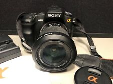 Sony A200 DSLR-A200 Camera W 3.5-5.6/18-70 Lens Charger Strap Disc