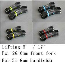 Lifting 6° / 17° Carbon Fiber MTB Bicycle Bike Handlebar Stem 31.8mm * 70-130mm