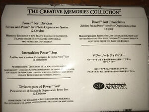"5x7"" Creative Memories Scrapbook crafts power  sort dividers 12"