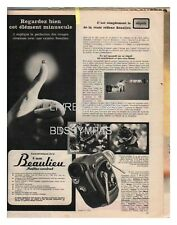 1962 DOCUMENT (ref RAP 685)  PUB : CAMERA BEAULIEU 8 MM REFLEX CONTROL   1p