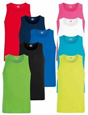 Fruit Of The Loom Mens Performance Plain Rounded Neck Tank Tops, Vest