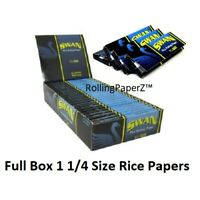Full Sealed Box Swan Blue Rice 1 1/4 size Cigarette Rolling Papers 50 leave pks
