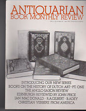 Antiquarian Book Monthly Review April 1975 Books on History of Dutch Art