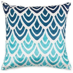 "MoDRN Glam Blue Art Deco Decorative Throw Pillow, 20"" x 20"""