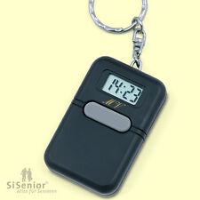Sprechender Schlüsselanhänger mit Alarmfunktion Uhr mit Sprachausgabe schwarz
