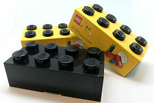 LEGO LUNCH BOX - STORAGE BLACK RETRO KIDS OR ADULTS