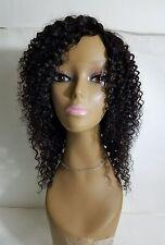 "100% human Remy hair curly full wig 12"" handmade black natural"