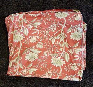 Ralph Lauren Villa Camelia Floral King Duvet Cover, Coral & Beige, EUC!