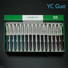 One Pack of 15X Hero 565 Fine Nib Fountain Pen Without Box 6 Black 3 Red 6 Green