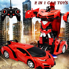 Kids Toys Transformer RC Robot Toy Birthday Gift Boy Model Car Remote Control