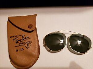 Vintage B&L Ray Ban Bausch & Lomb G15 Gray Wayfarer Clip On