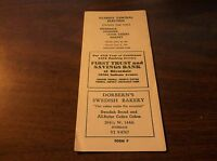 APRIL 1961 ILLINOIS CENTRAL ELECTRIC RIVERDALE-HARVEY PUBLIC TIMETABLE