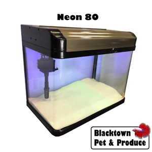 80L 60 cm Glass Fish Tank Aquarium NEON 80 Litre w/ Light, Filter, Pump, Air