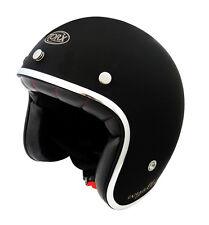 casco helmet jet TORX WYATT negro brillante Talla XL 61 62 VINTAGE VESPA CE