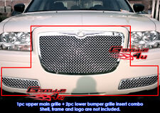 Fits Chrysler 300 Stainless Steel Mesh Grill Combo 05-10