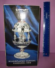 Wallace Silversmiths Silverplated Musical Carousel Egg Carousel Waltz 2002 Horse