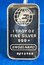 Engelhard .999 Silver BU 1 Oz. Art Bar ~ Mint
