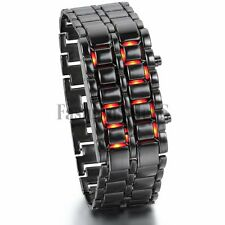 Men's Unique Abco Tech Lava Style Iron Samurai Bracelet LED Wristwatch Watches