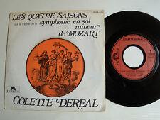 """COLETTE DEREAL: UNe histoire d'amour / Les 4 saisons 7"""" 45T POLYDOR 2056 077"""