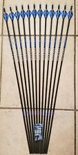 1 dozen (12)Carbon Express Maxima Blu Rz 250 Arrows with Blazer vanes -Will cut