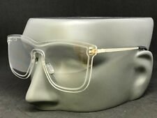 Mens Women CLASSIC VINTAGE Style Clear Lens EYE GLASSES Transparent & Gold Frame