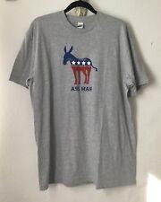 Ass Man Mens T-Shirt XL Heathered Gray Democrat Donkey Resistance New
