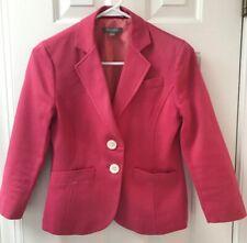 Ann Taylor Pink Blazer Size 0 Jacket Collar Button Down