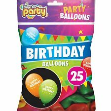 25 x Happy Birthday Party Balloons Event Decoration Multi Colours Latex