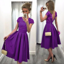 Formal Prom Short Lace Flower Dress Bridesmaid Ball Gown Party Backless Cocktail