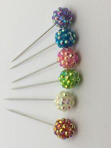 aiguille boule broche fantaisie faux perle argenté couleur st valentin cadeau
