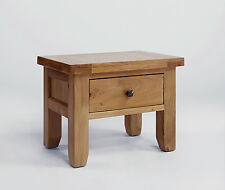 Devon Oak Solid Wood 1 Drawer Lamp Table - High Quality Living Room Furniture