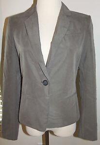 New Ann Taylor Loft Sz 4 Blazer One-Button Suit Jacket Beige Lined $98