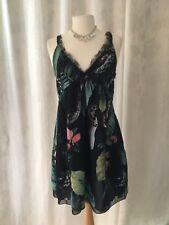 Religion Floral And Snake Design Evening Dress Bnwt Xxs / 6 / 34