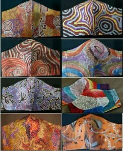 ADULT & CHILD SIZES DOUBLE CLOTH FACE MASK Indigenous Art designs FREE POST