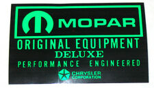 "Repro Mopar battery decal - ""Mopar Original Equipment""  6"" x 4"" Chrysler Dodge"