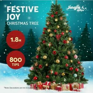 Christmas Tree 1.8M 6FT Xmas Artificial Easy to Assemble Family Fun Decoration