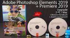 Adobe Photoshop Elements 2019 + Premiere 2019 Upgrade Box + DVD Win/Mac NEU