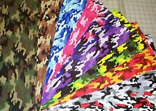 10 Camo Kickin Camouflage Novelty Fat Quarters Bundle Fabric 100% Cotton precut