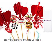Coco & Bo 10 X selecciones de casino de Las Vegas Cóctel Fiesta Noche Poker Decoraciones