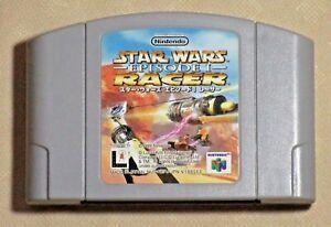 Star Wars Episode 1 Racer 64 Nintendo N64 Authentic tested Japanese game Japan