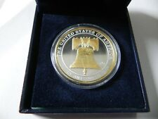 1 oz. 999 Fine Silver Round - Liberty Bell- 24 K Gold Detail- BU - in a Gift Box