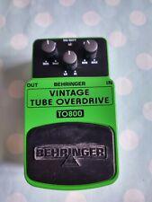 More details for beringer to800 vintage tube overdrive pedal