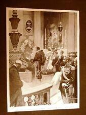 Roma 1903 Imperatore Guglielmo II visita Tomba Re Umberto I Corteo Via Nazionale