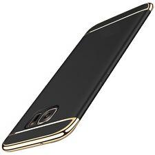Handy Hülle Schutz Case für Samsung Galaxy S7 Edge Bumper 3 in 1 Cover Schwarz