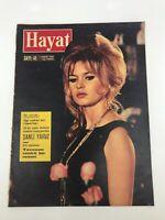 HAYAT (LIFE) #45 - Turkish Magazine - 1960s - BRIGITTE BARDOT COVER - Ultra Rare