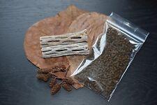 FRESHWATER SHRIMP KIT,Shrimp Food,Cholla Wood,Almond Leaves,Crayfish,Alder Cones