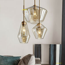 Industrial Glass Ceiling Hanging Lamp Pendant Light Fixture Dining Room Kitchen