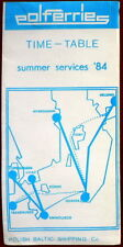 ferryboat Polferries Timetable summer services '84 - English